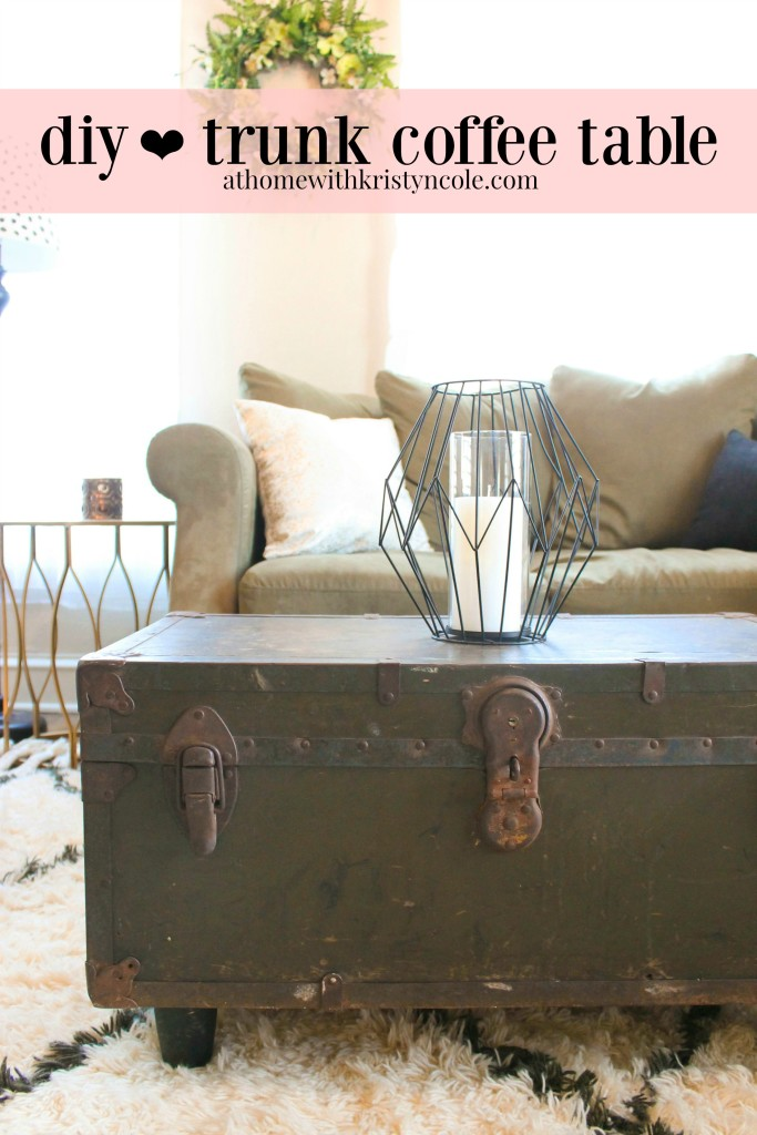 Diy Antique Trunk Coffee Table The Edit