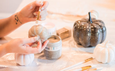 DIY Chalk Paint Pumpkins