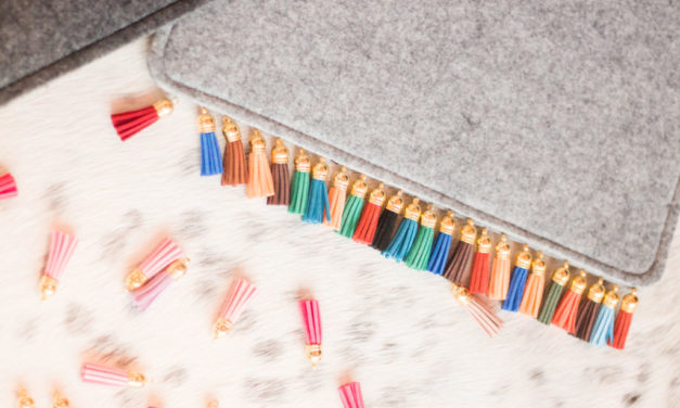 DIY Embellished Tassel Clutch