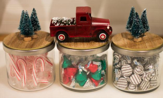 Christmas Candy Jars DIY