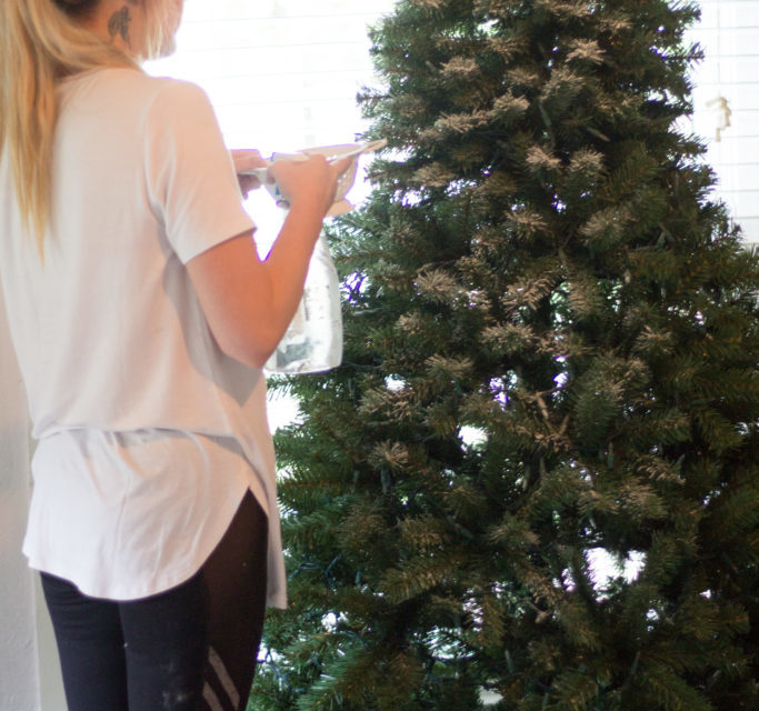 How To Flock Your Christmas Tree