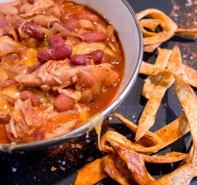 BBQ Chicken Crockpot Chili