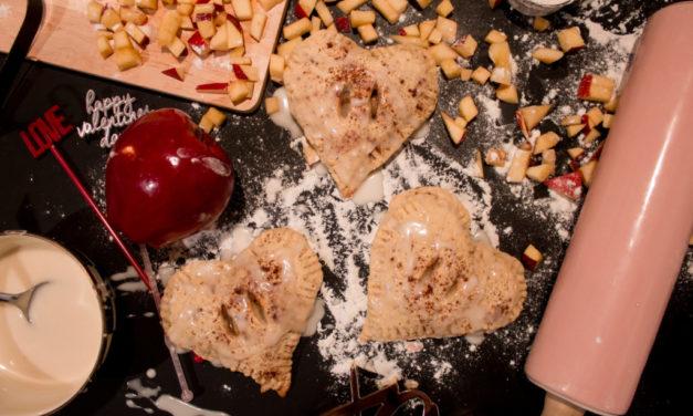Mini Heart Shaped Iced Apple Pies