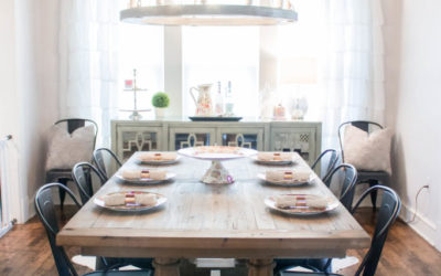 Farmhouse Glam Dining Room Update