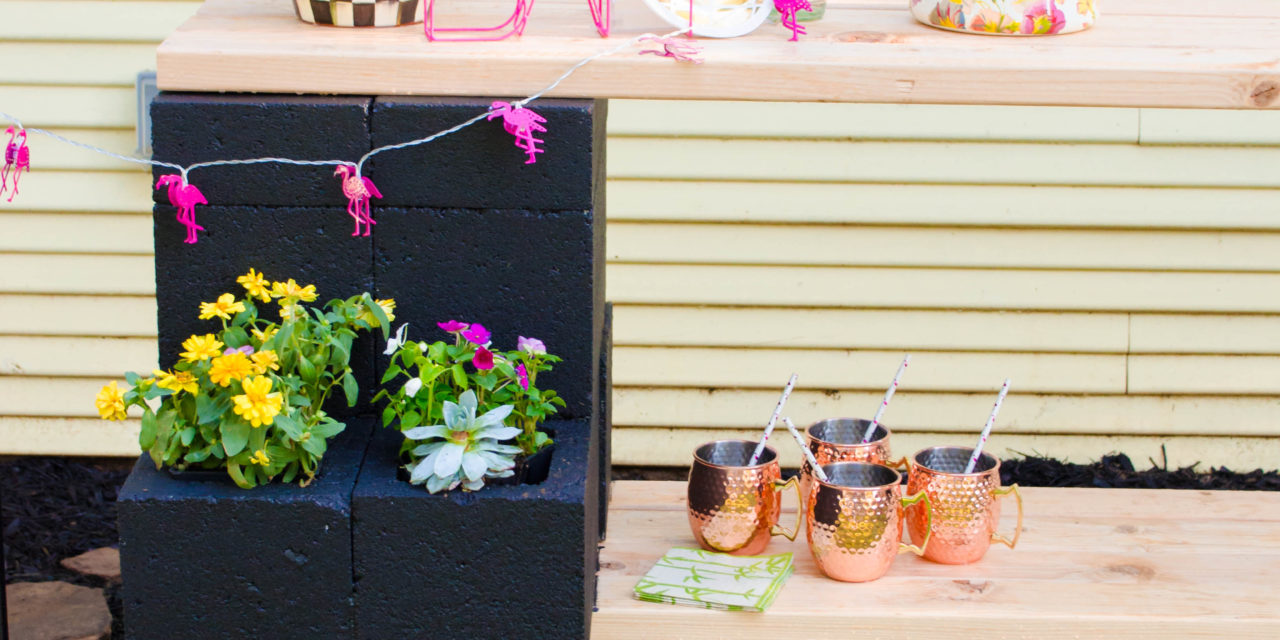 DIY Outdoor Garden Bar