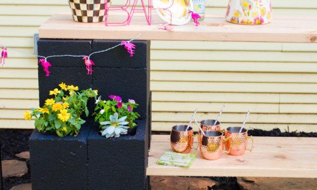 DIY Outdoor Garden Bar