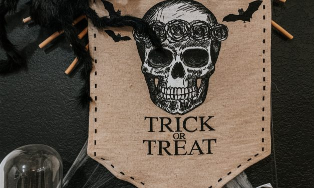 Boho Halloween Bar Cart