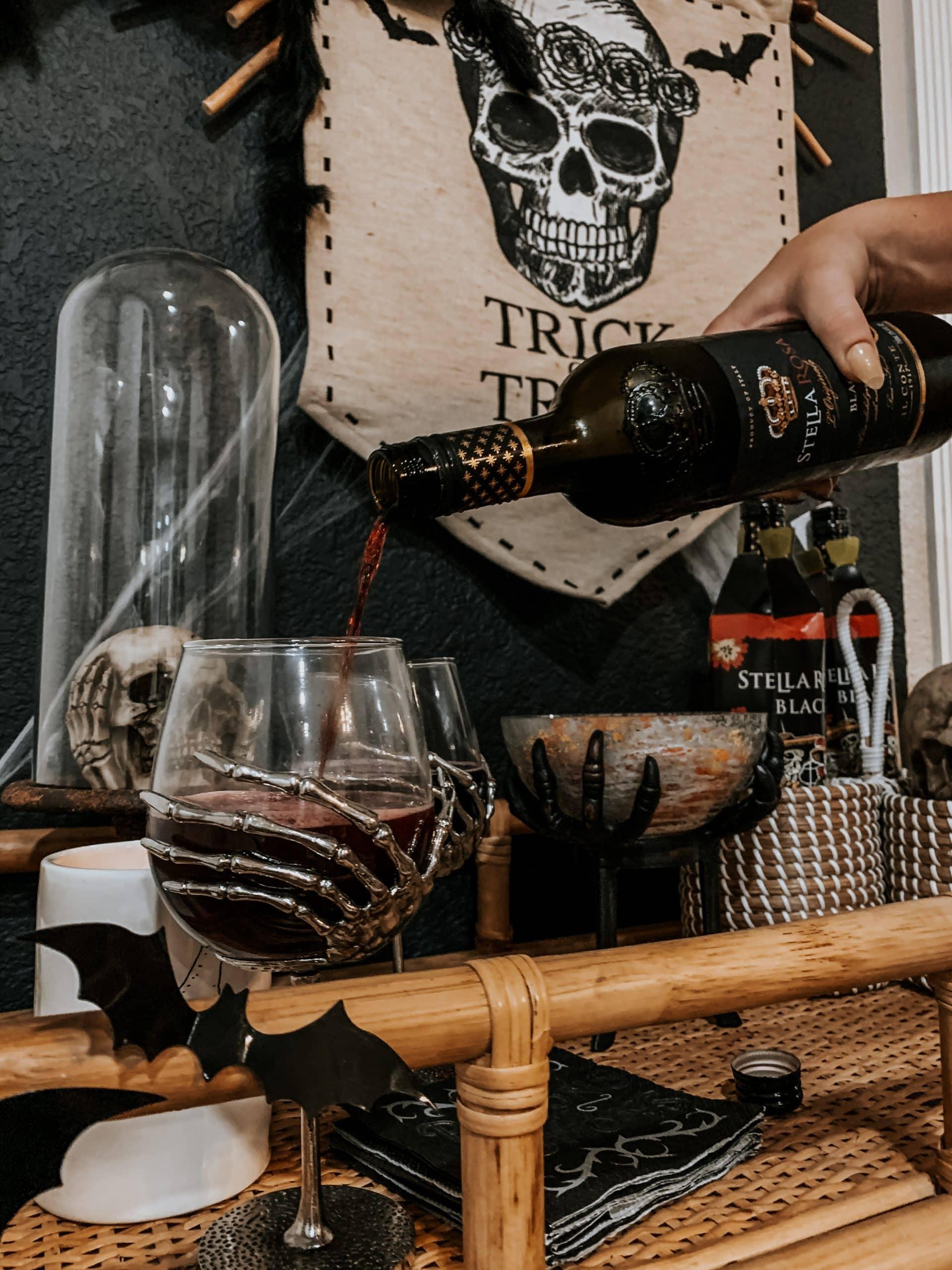 Stella Rosa Black Halloween Wine Bottles