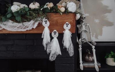 DIY Lace Ghosts