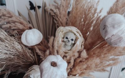 DIY Skull Flowers